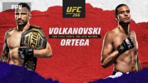 UFC 266 Volkanovski v Ortega